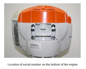 Gasoline Tank Vent Recall  Serial Number Location