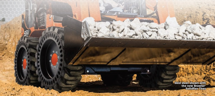 Kubota Brawler® Solidflex Skid Steer Tires – Now at Nord Outdoor Power